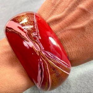 ❤️5 for $15 Vintage Hand Painted Wood Large Bangle Bracelet